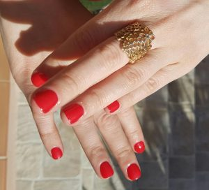 vernis rouge corail